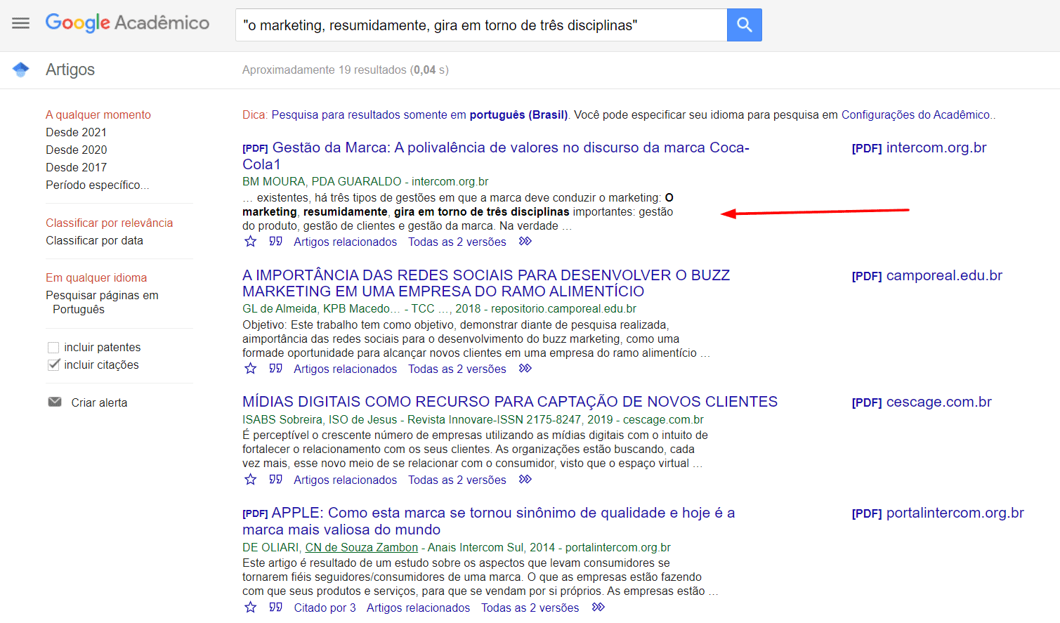 como encontrar citações no google acadêmico
