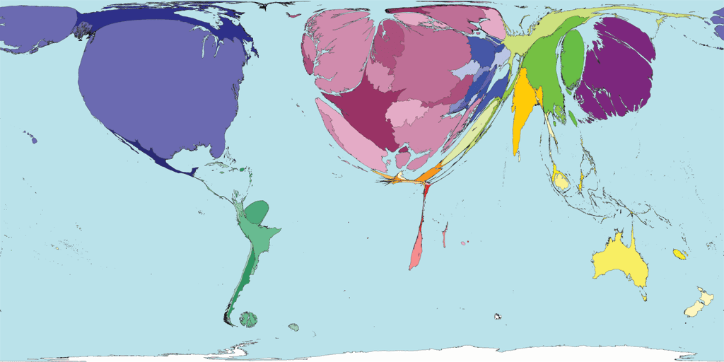 mapa producao científica no mundo