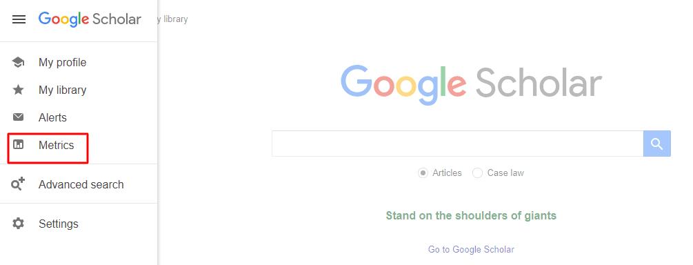 Como acessar as métricas do Google Acadêmico