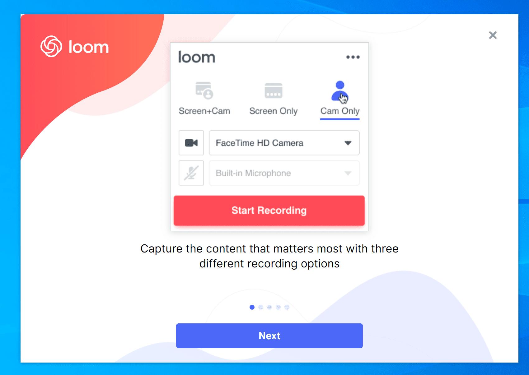 Loom para conferência online
