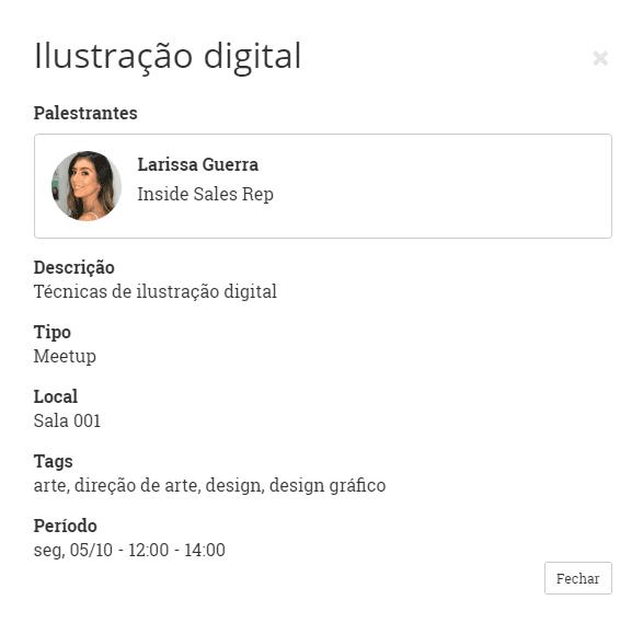 tela participante programacao