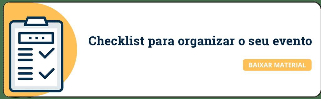 checklist para eventos acadêmicos