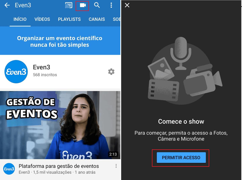 live no youtube
